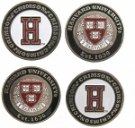 Harvard Crimson Golf Ball Markers Set of 4